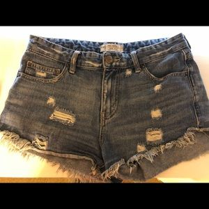 Free People Blue Shorts.